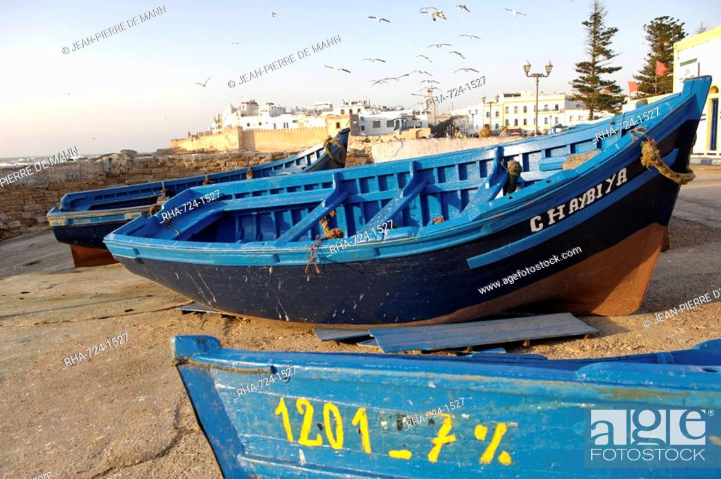 Stock Photo: The old fishing port, Essaouira, Morocco, North Africa, Africa.