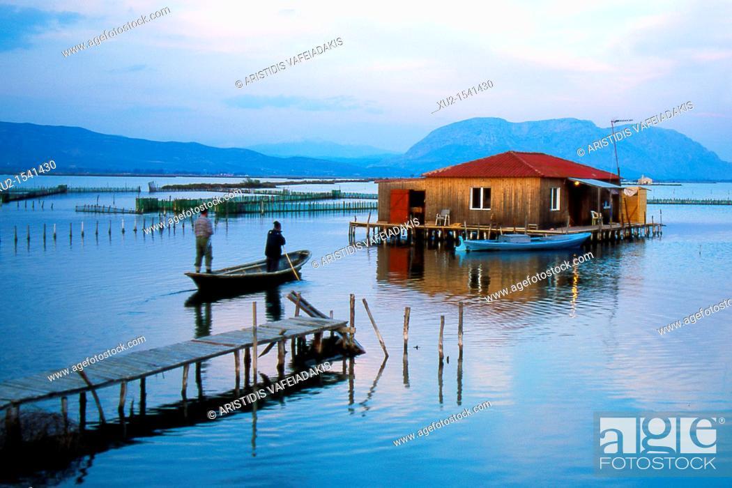 Stock Photo: Mesologi lagoon Greece.