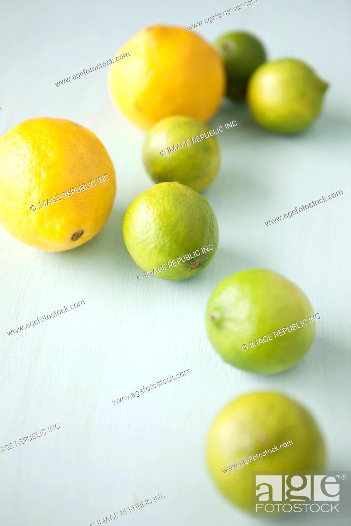Stock Photo: Lemon and Lime.