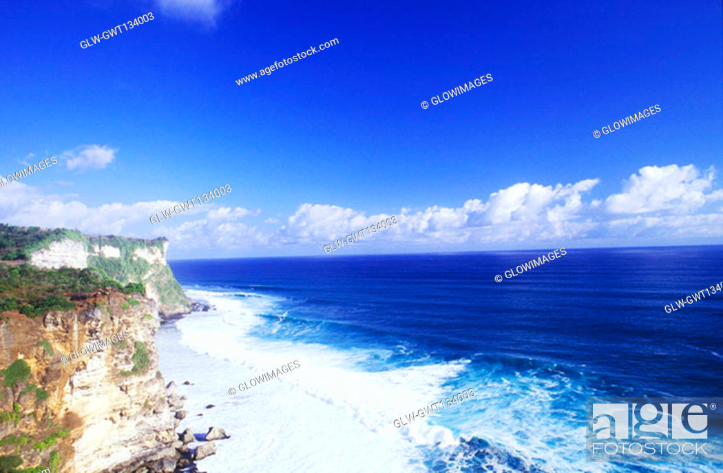 Stock Photo: High angle view of the beach, Bali, Indonesia.