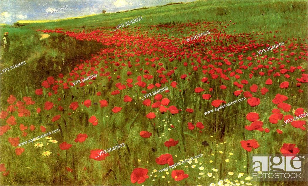 Imagen: Szinyei Merse PáL - Poppies in the Field 1 - Hungarian School - 19th Century.