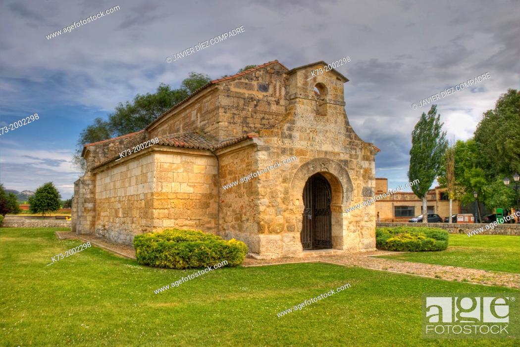 Stock Photo: Visigothic Church of San Juan Bautista San Juan de Baños. 7th Century. Baños de Cerrato. Palencia Province. Castilla y Leon. Spain.