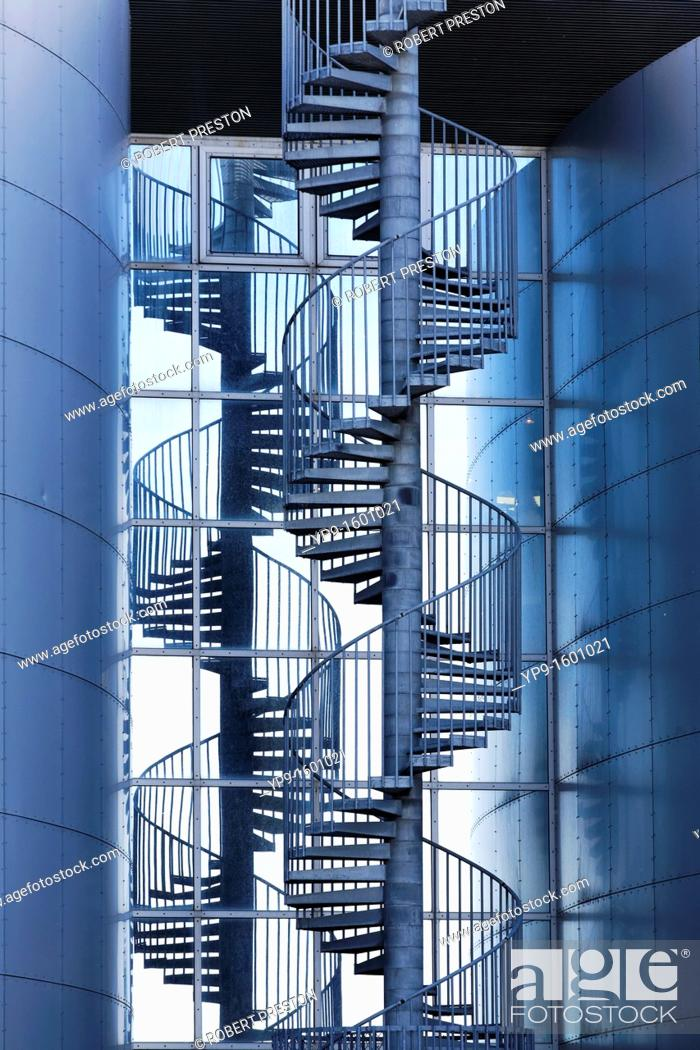 Stock Photo: Spiral staircase at Perlan, the pearl, Reykjavik, Iceland.