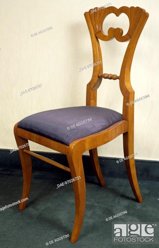 Biedermeier Style Chair With Cherrywood Veneer Finish Ca