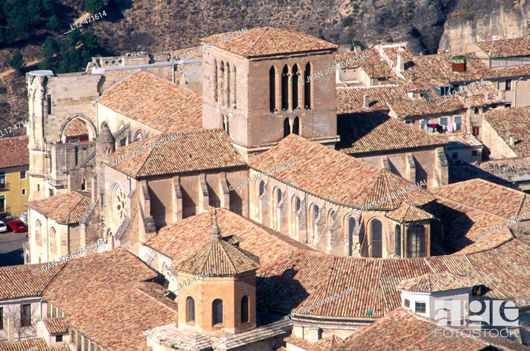 Stock Photo: Dome and transept of cathedral, Cuenca. Castilla-La Mancha, Spain.