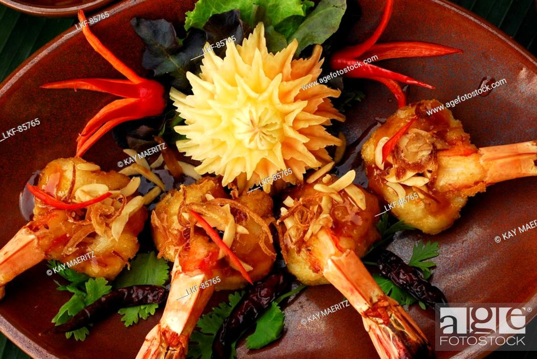 Thai Food Prawns Hotel Rayavadee Hat Phra Nang Krabi
