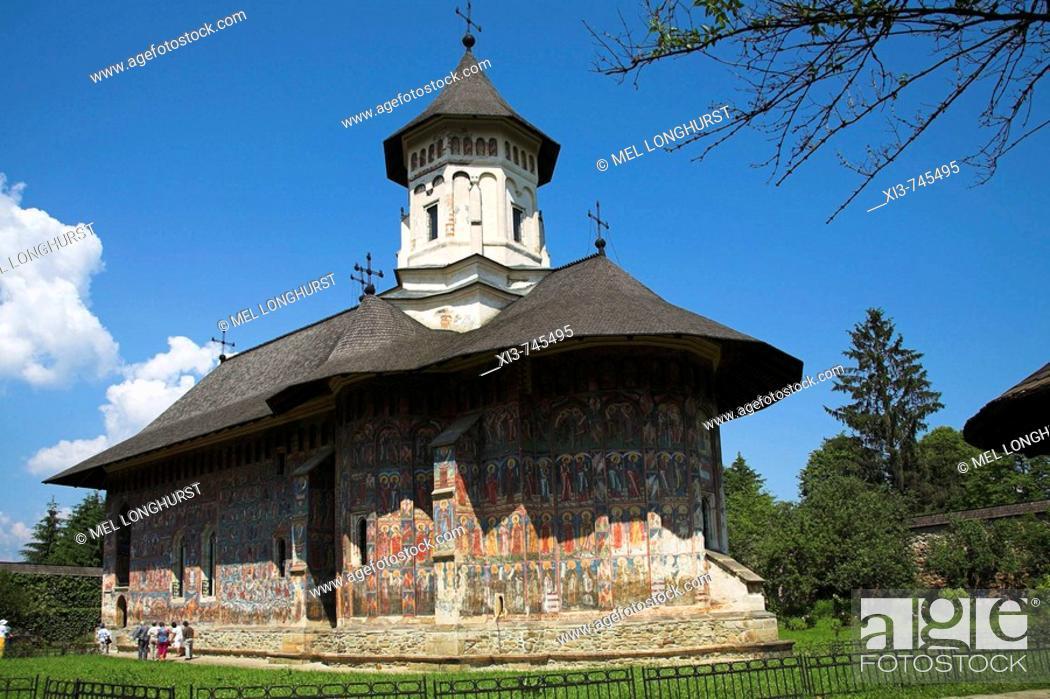 Imagen: Church Of The Annunciation, Moldovita Monastery, Moldovita, Southern Bucovina, Moldavia, Romania.