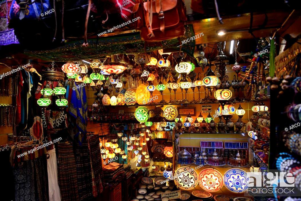 lamps, shop, Albaicin, moorish quarter, Granada, Andalusia, Spain