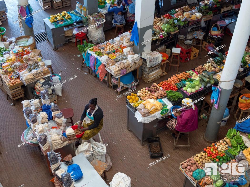 Stock Photo: The market. Town of Assomada (Somada). Island of Santiago (Ilha de Santiago), Islands of Cape Verde in the equatorial Atlantic.