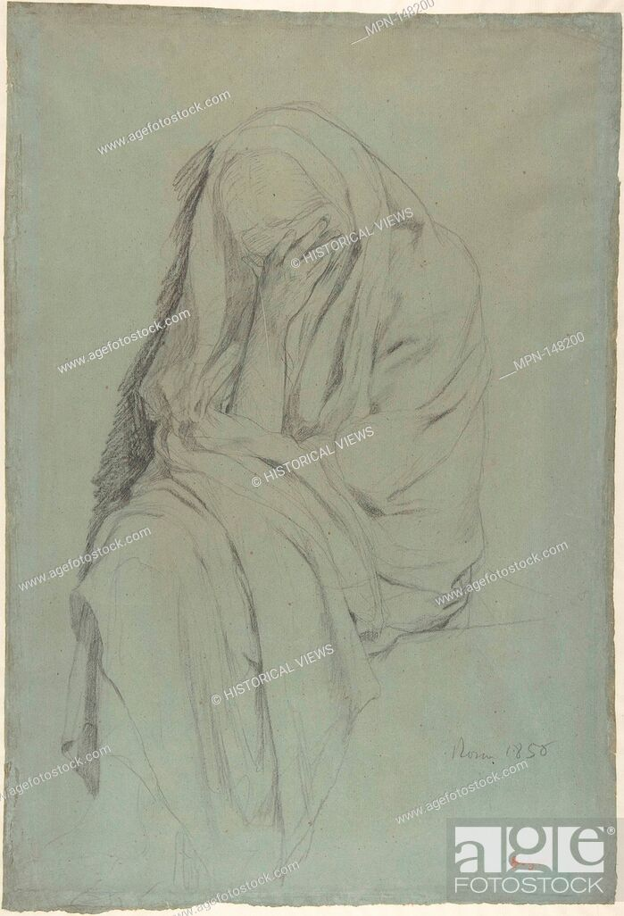 Study for Vieille Italienne(recto); Drapery Study (verso), Stock ...