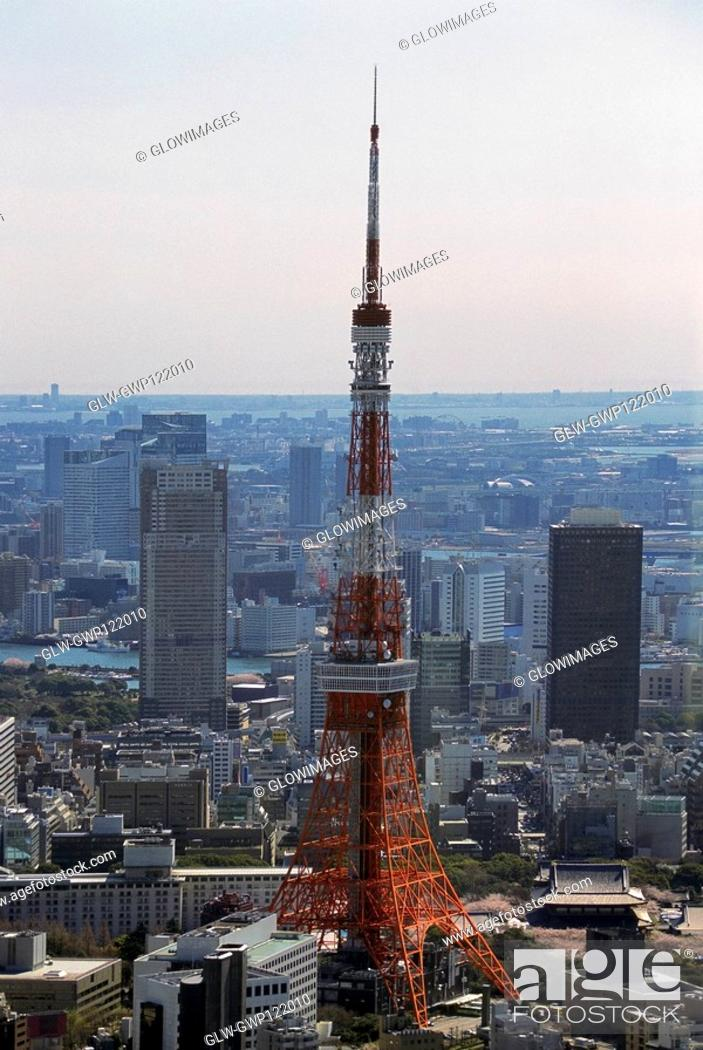 Stock Photo: Aerial view of Tokyo, Japan.