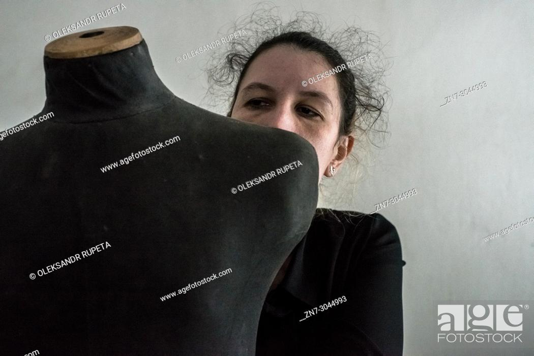 Stock Photo: Portrait of a woman.
