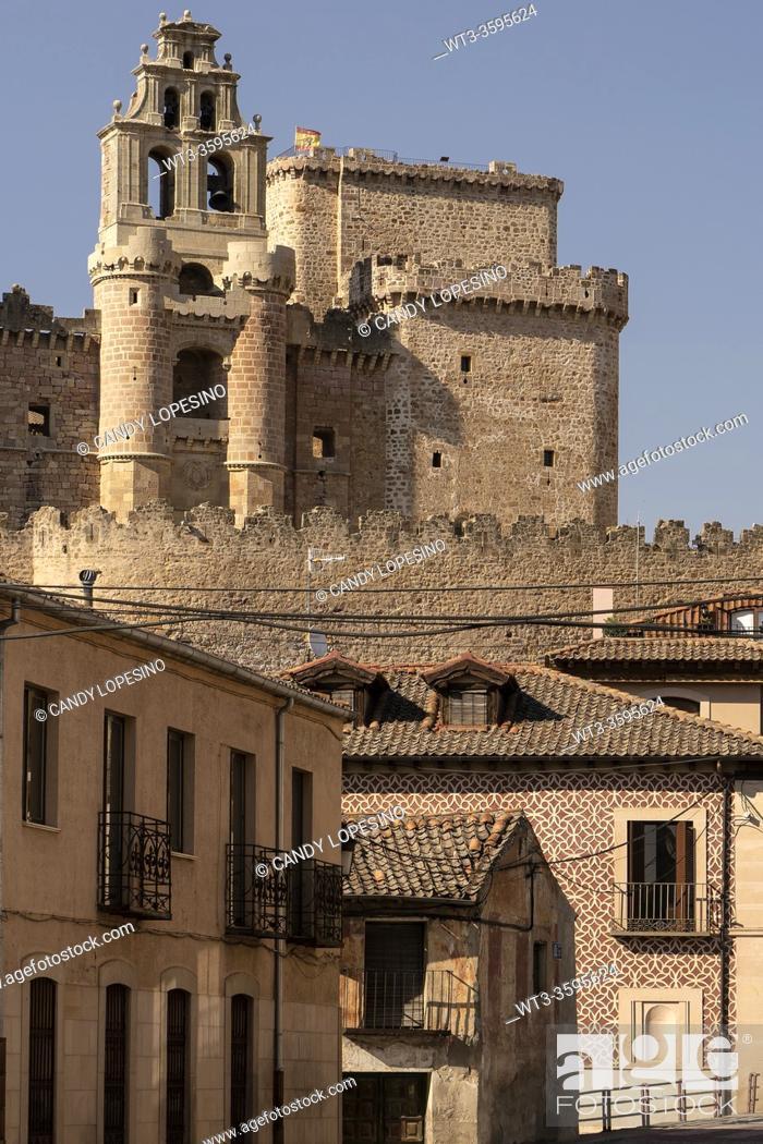 Stock Photo: Castle of Turégano and traditional architecture, TURÉGANO, SEGOVIA province, CASTILLA-LEON, SPAIN, EUROPE.