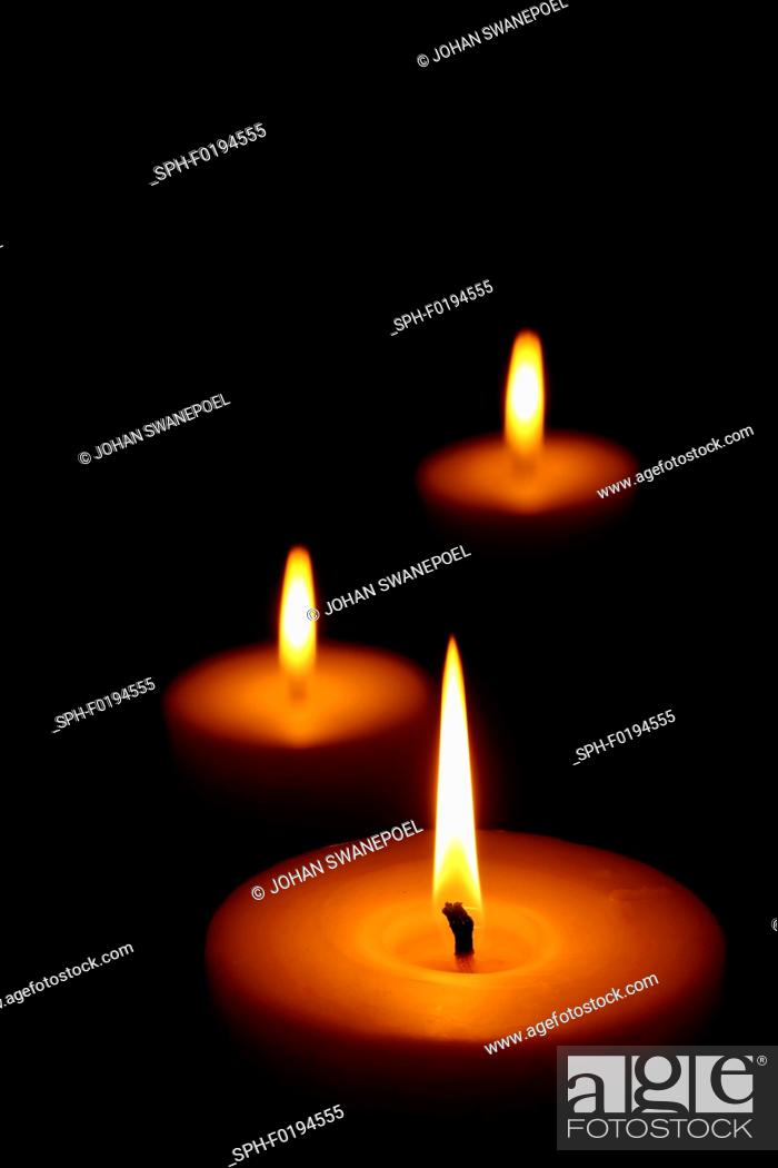 Stock Photo: Candle flames.