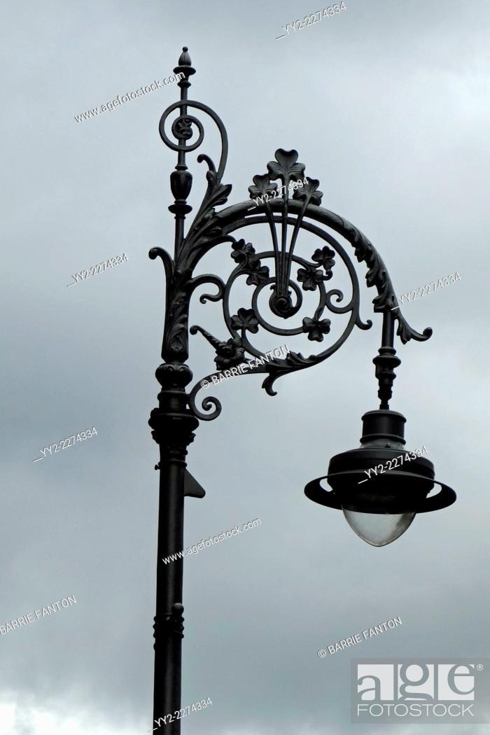 Stock Photo: Lamp Post, Dubin, Ireland.