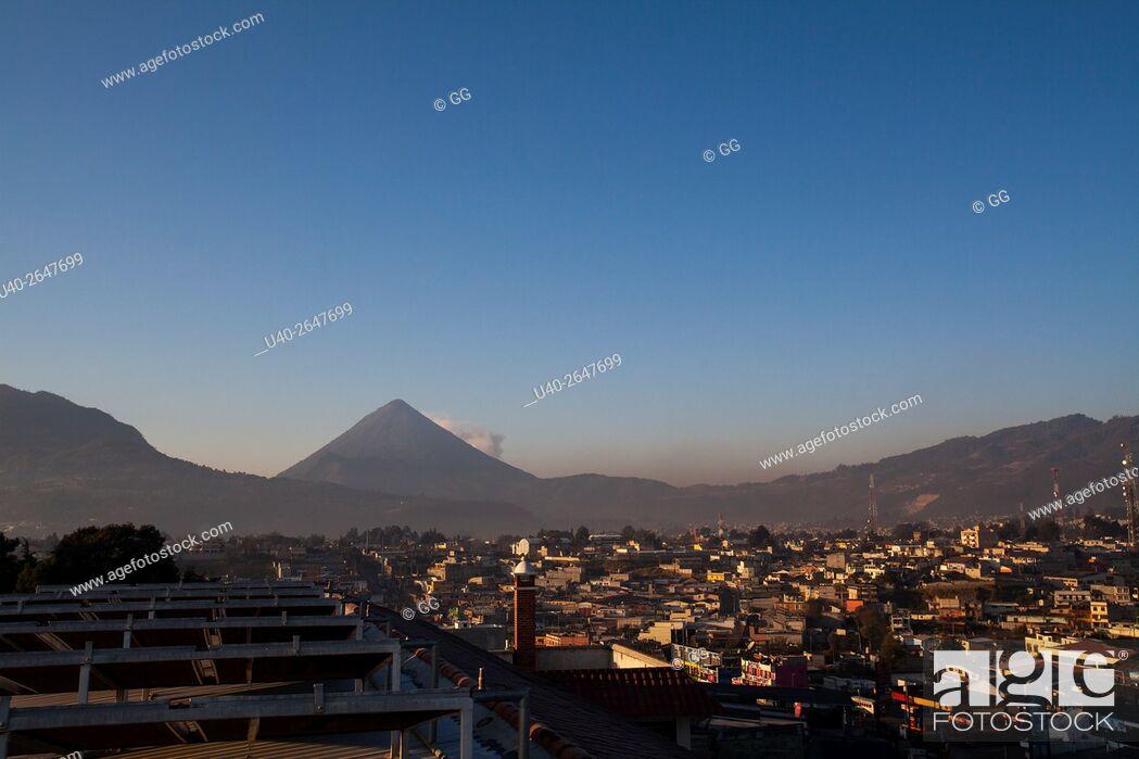 Stock Photo: Guatemala, Quetzaltenango, early morning city view.