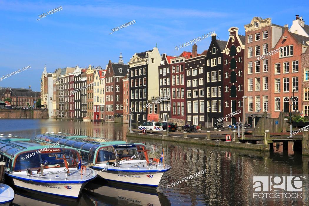 Stock Photo: Damrak, Amsterdam, Netherlands.