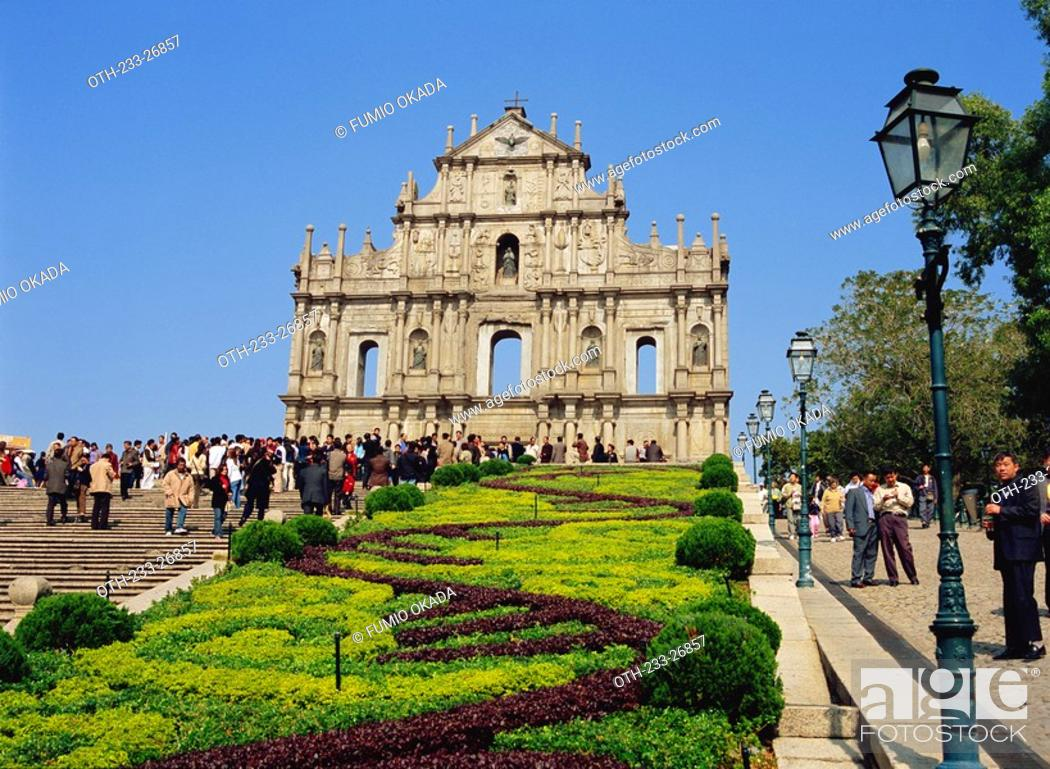 Stock Photo: Ruins of St. Paul's Cathedral, Macau.