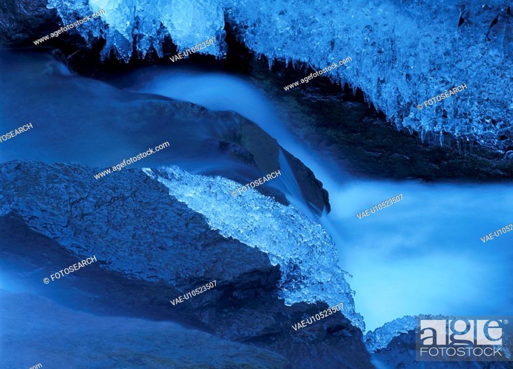 Stock Photo: Ice On Rocks.