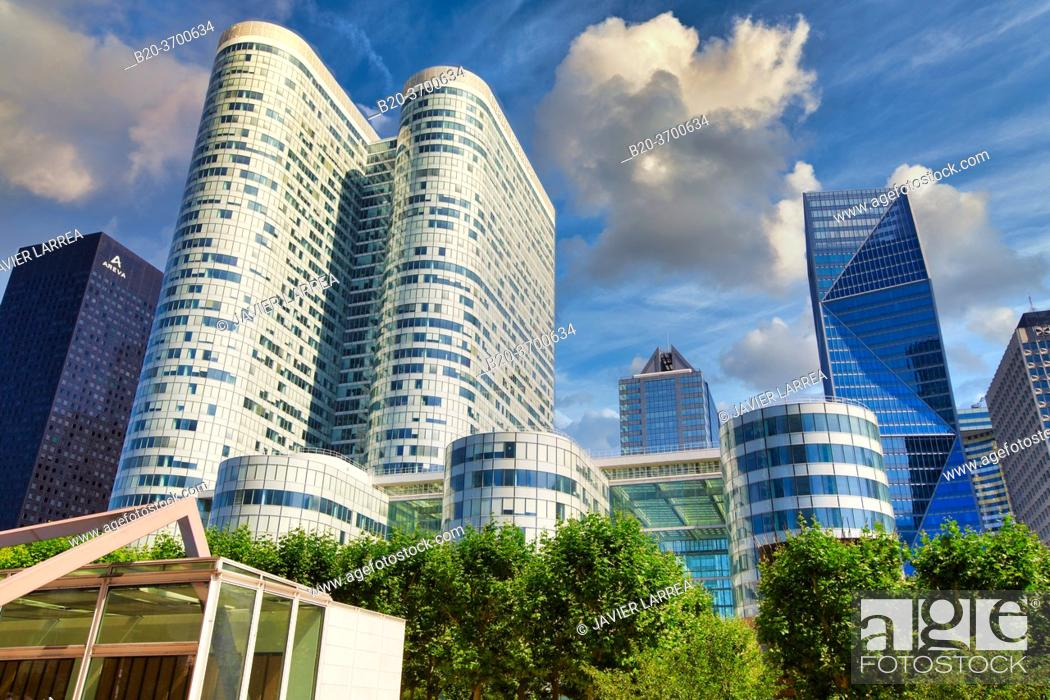 Stock Photo: Office buildings. La Defense. Paris. France. Europe.