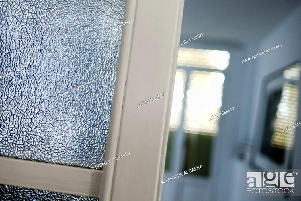 Stock Photo: door and window.