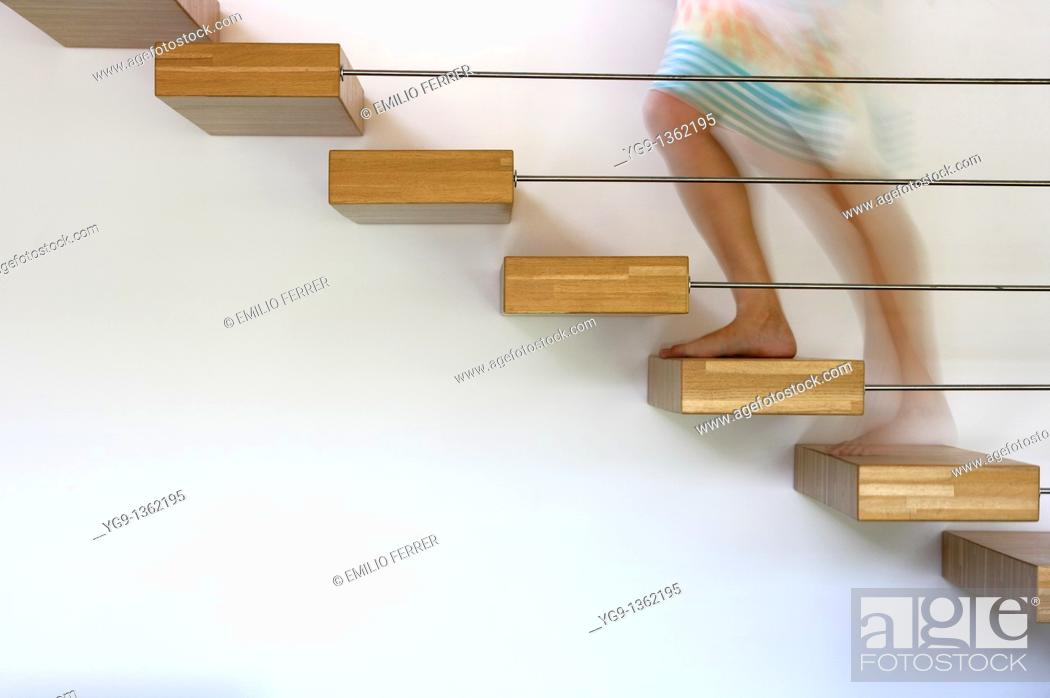 Stock Photo: Steps of a Stair  Girona  Spain.