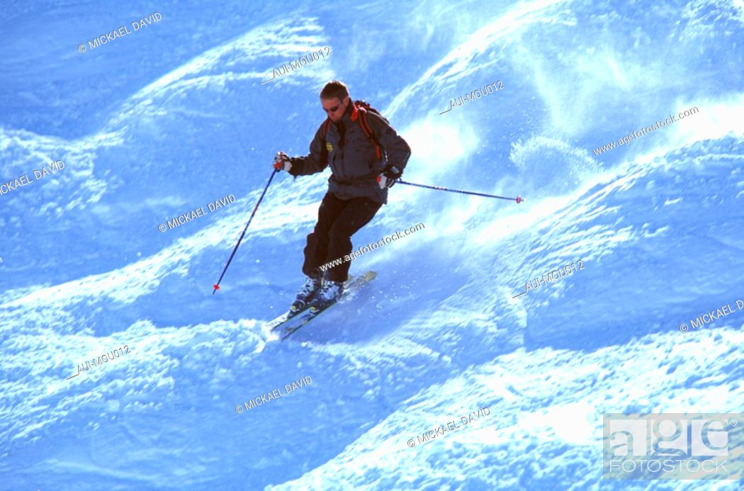 Stock Photo: Mountain - Skiing.