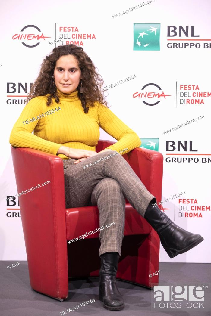 """Stock Photo: Lina Soualem attends the photocall of the movie """"""""Their Algeria"""""""" during the 15th Rome Film Festival on October 16, 2020 in Rome, Italy."""