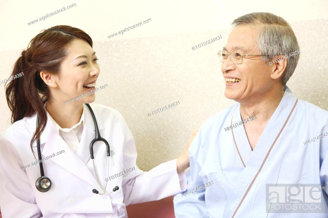 Stock Photo: Doctor and patient.