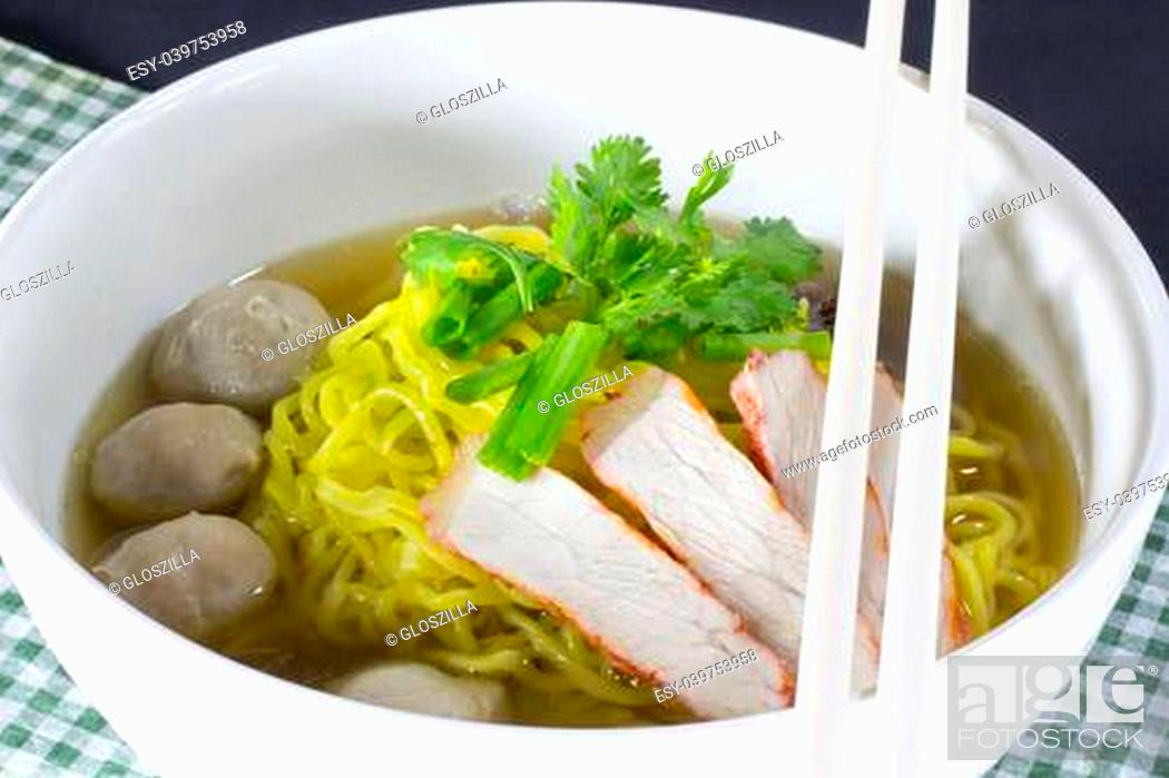 Stock Photo: Small bowl of delicious noodles.