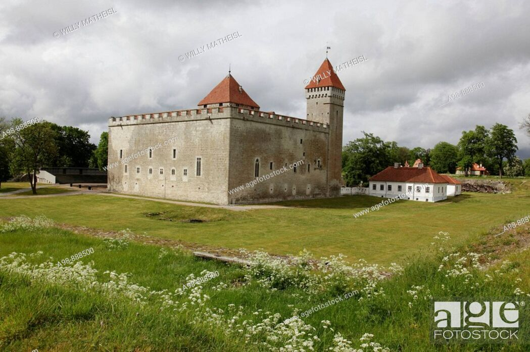 Stock Photo: Kuressare castle Saaremaa island Estonia, Baltic State, Eastern Europe. Photo by Willy Matheisl.