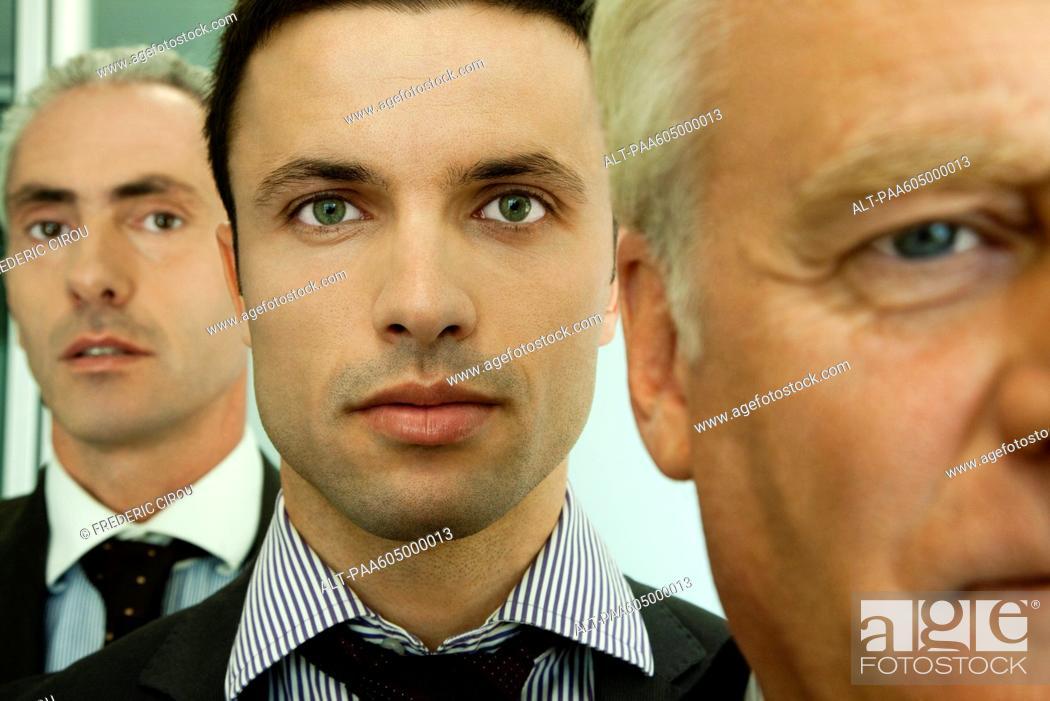 Stock Photo: Male executives, portrait.
