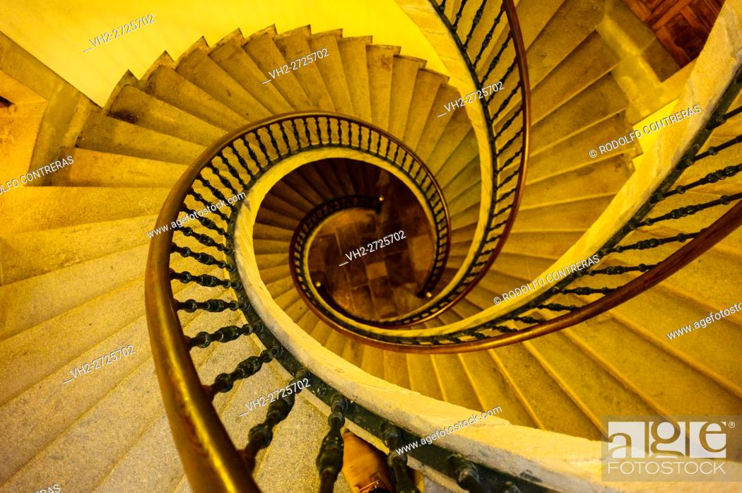 Stock Photo: Stairs at Museum of the Galician People, Santiago de Compostela.