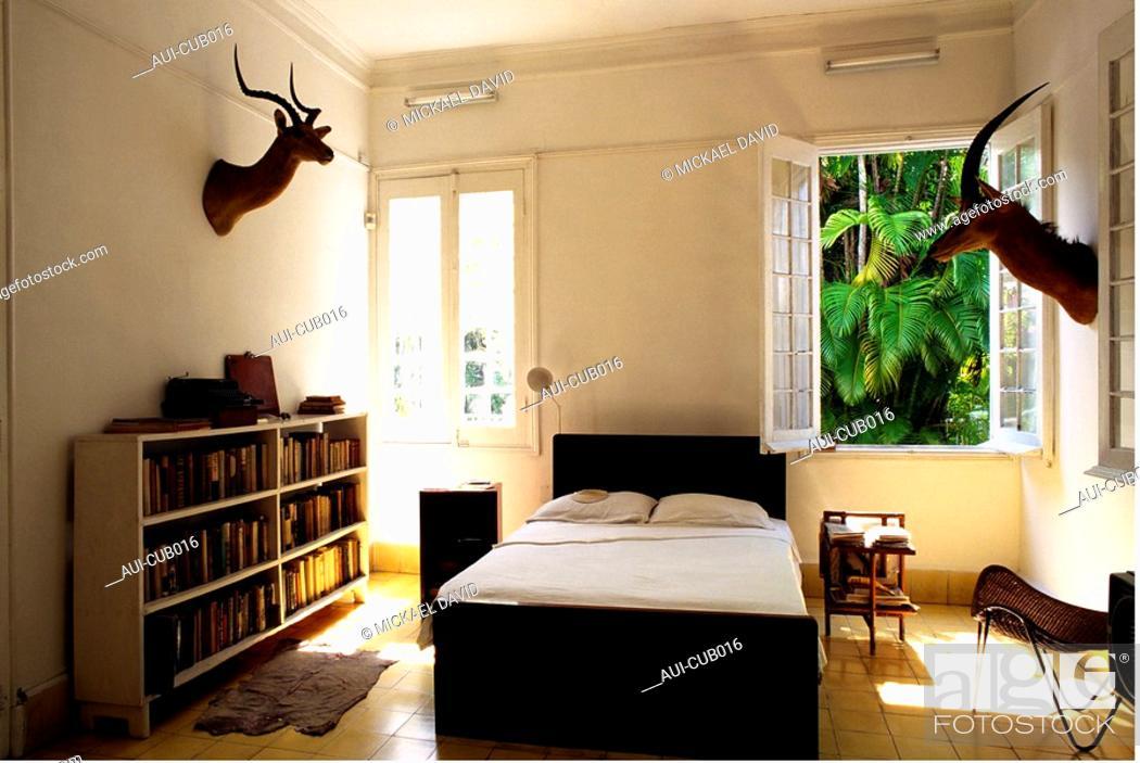 Stock Photo: Cuba - The Havana - The Hemingway's Finca Vigia.