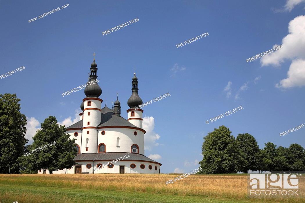 Stock Photo: Trinity church Kappl, near Waldsassen, Upper Palatinate, Bavaria, Germany.