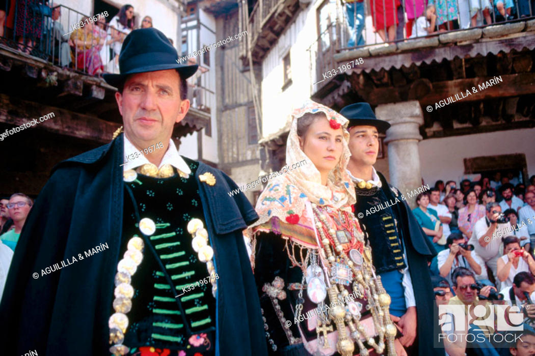 Stock Photo: 'El Diagosto', local festival. La Alberca. Salamanca province. Spain.