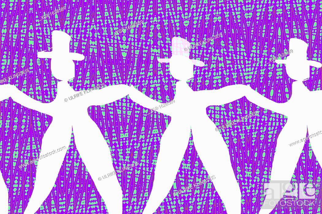 Stock Photo: dancing men in white.