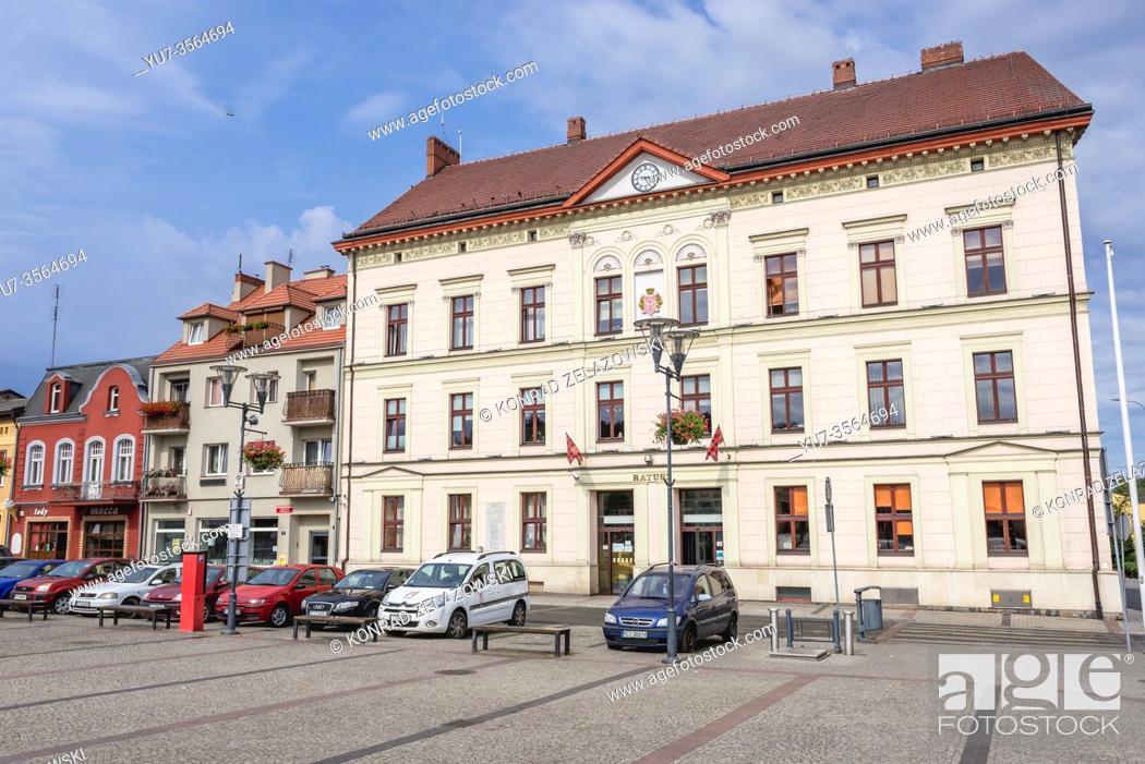 Stock Photo: Town Hall building on Liberty Square in Czarnkow town in Czarnkow Trzcianka County, Greater Poland Voivodeship of Poland.