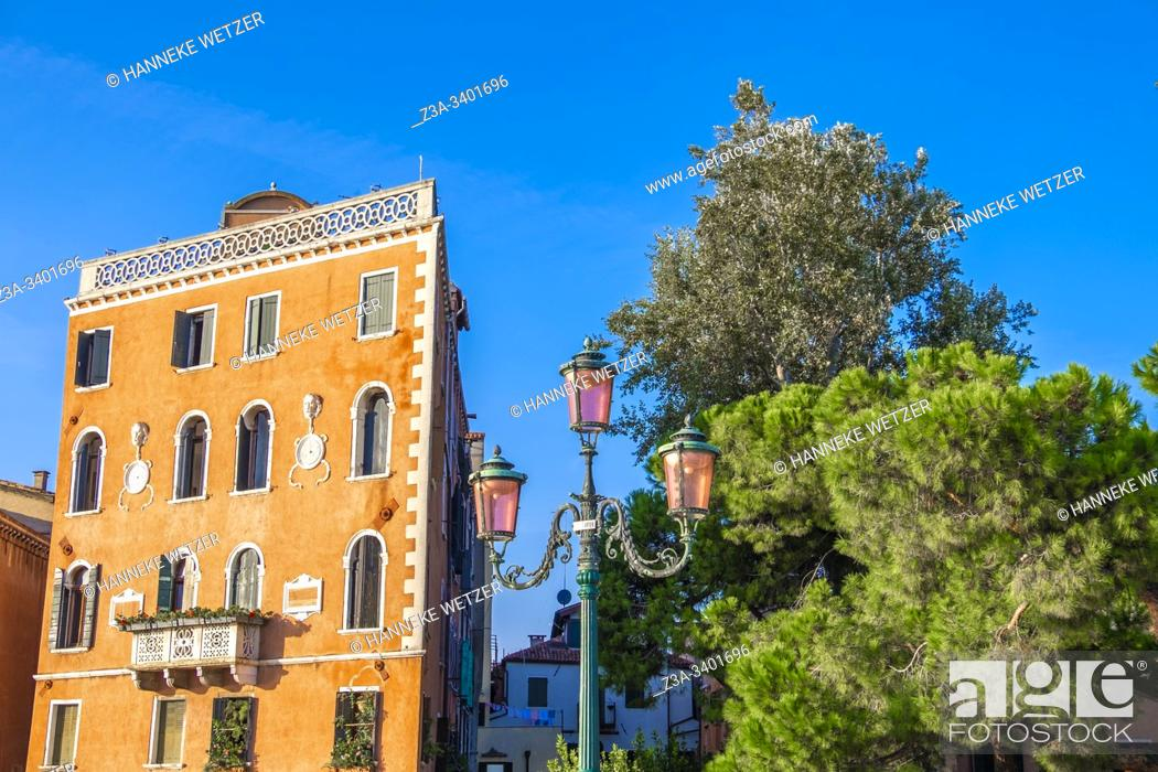 Stock Photo: Traditional houses in Venica, Italy.