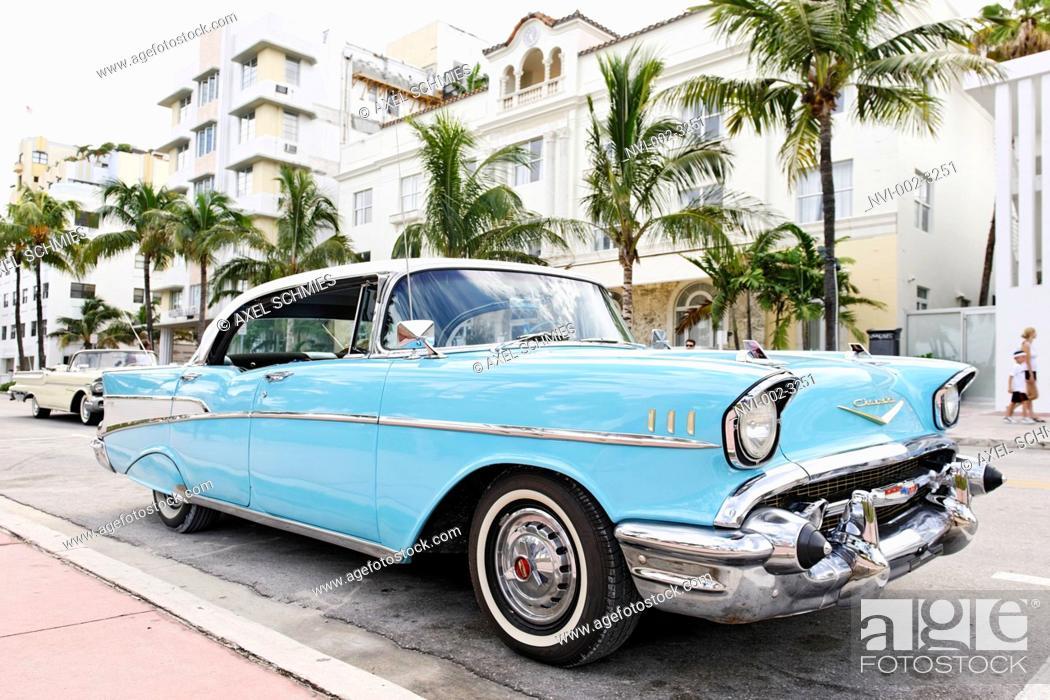 Chevrolet Bel Air Built In 1957 Fifties American Classic Cars