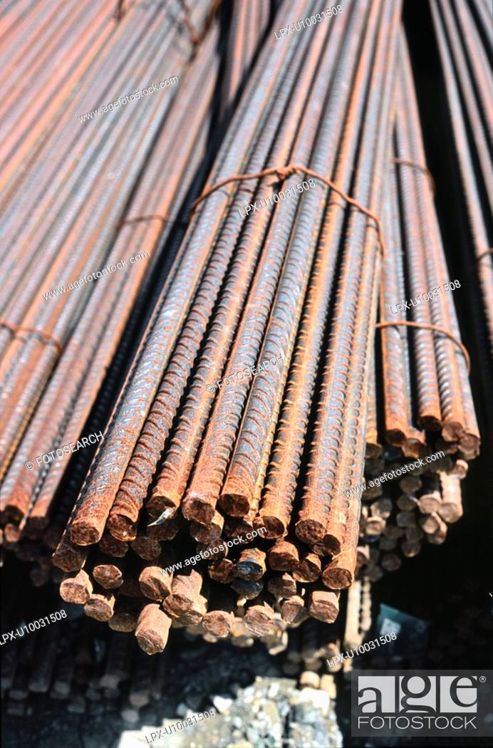 Stock Photo: Reinforced steel bar - rebar.