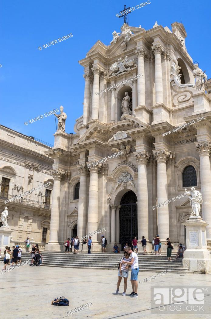 Stock Photo: Cathedral of Syracuse, Syracuse, Sicily, Italy.