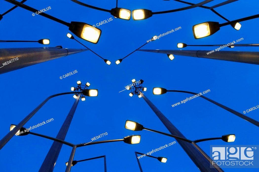 Stock Photo: Public lighting. Bilbao. Spain.