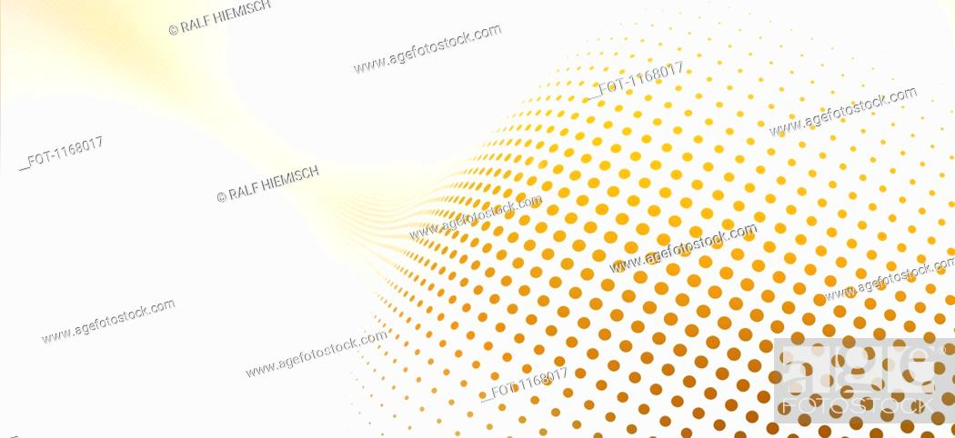 Stock Photo: Diminishing dot pattern against a white background.