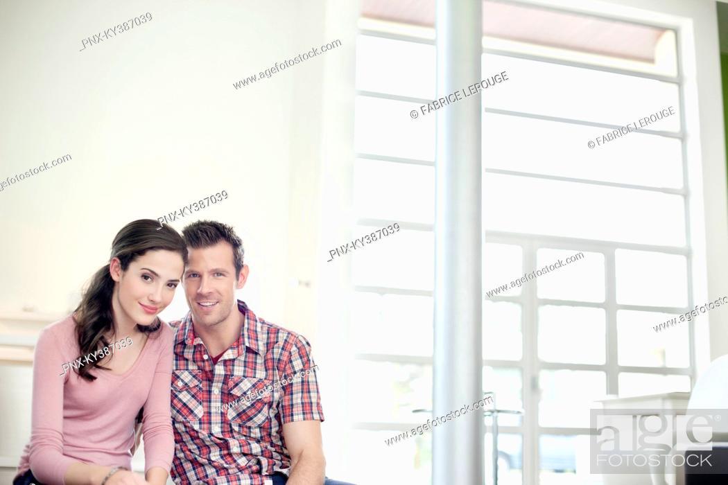 Stock Photo: Portrait of a romantic couple.