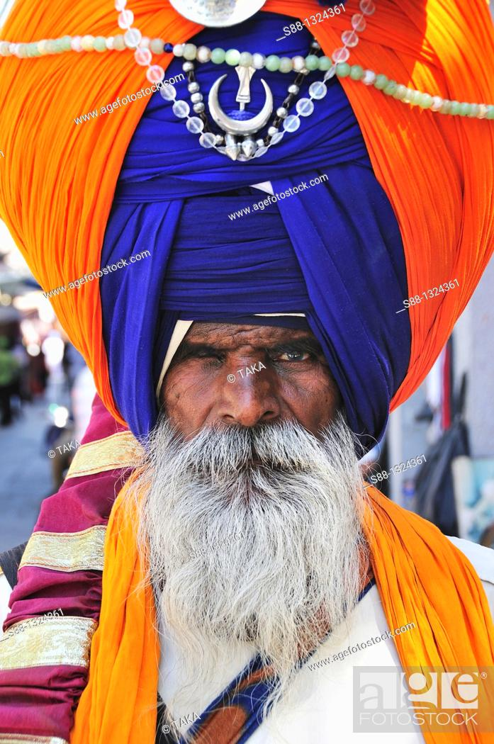 Stock Photo: Sikh Sadhu at the Golden Temple.