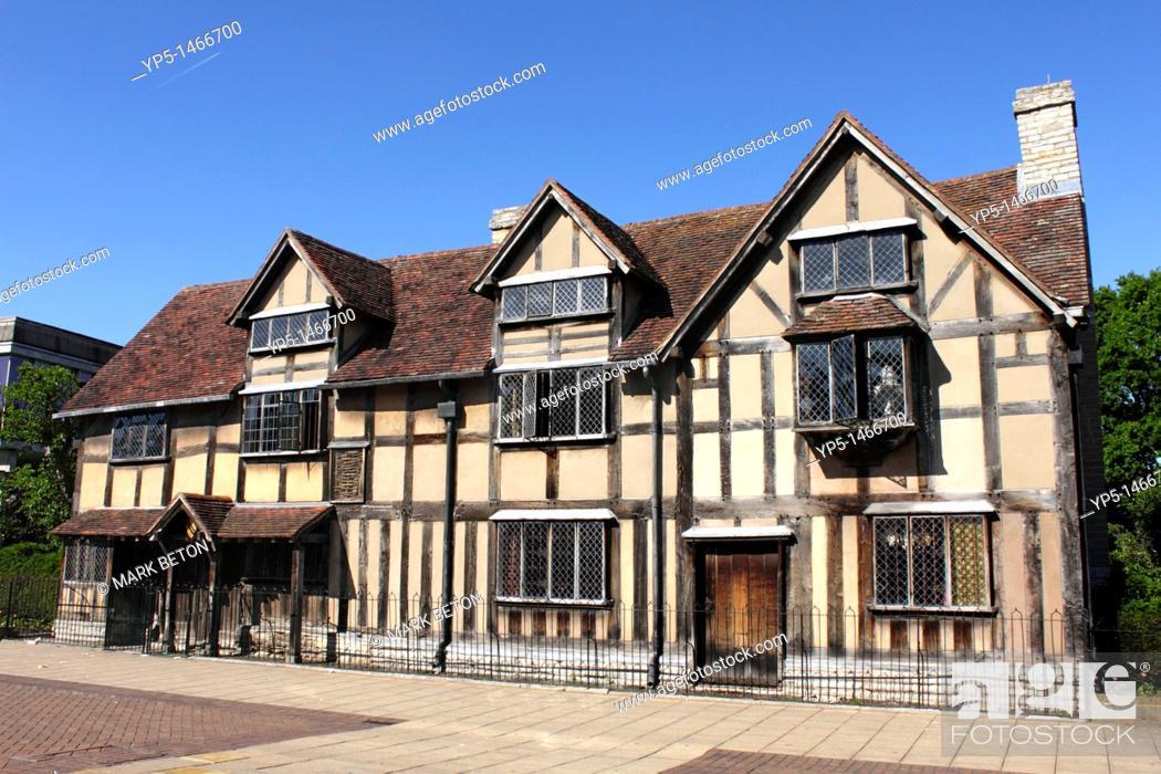 Shakespeares Birthplace Henley Street Stratford Upon Avon Stock