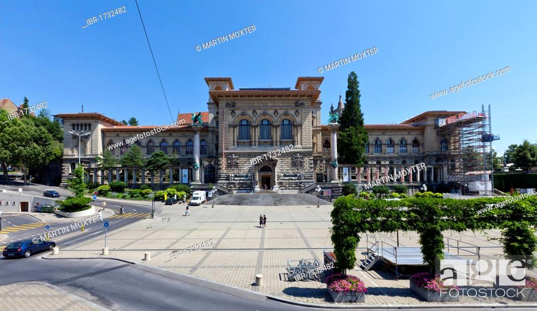 Stock Photo: Archaeological Museum Palais de Rumine, Lausanne, canton of Vaud, Lake Geneva, Switzerland, Europe.
