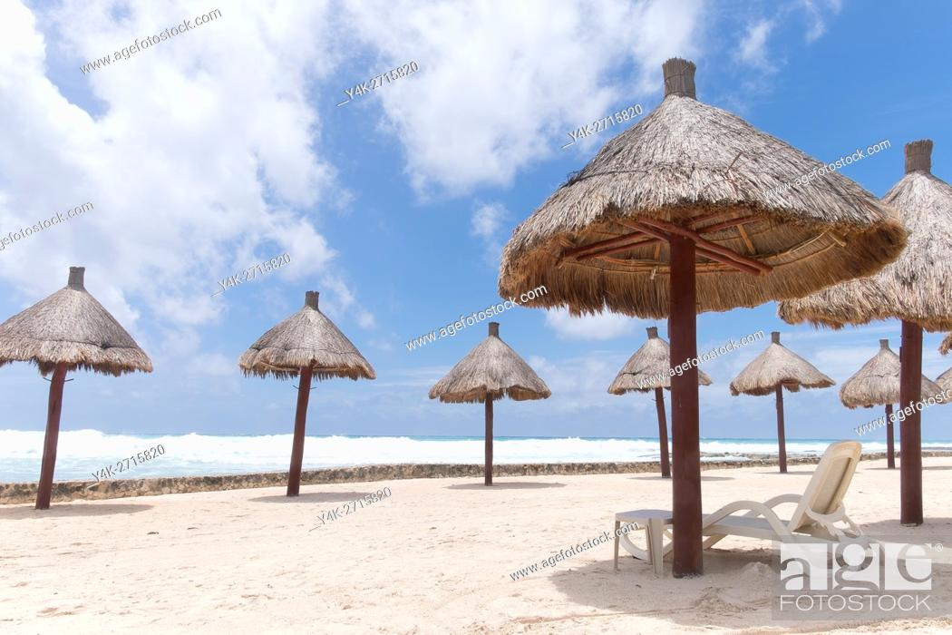 Stock Photo: Mexico, Quintana Roo, Yucatan Peninsula, Port of Costa Maya, Akumal beach.