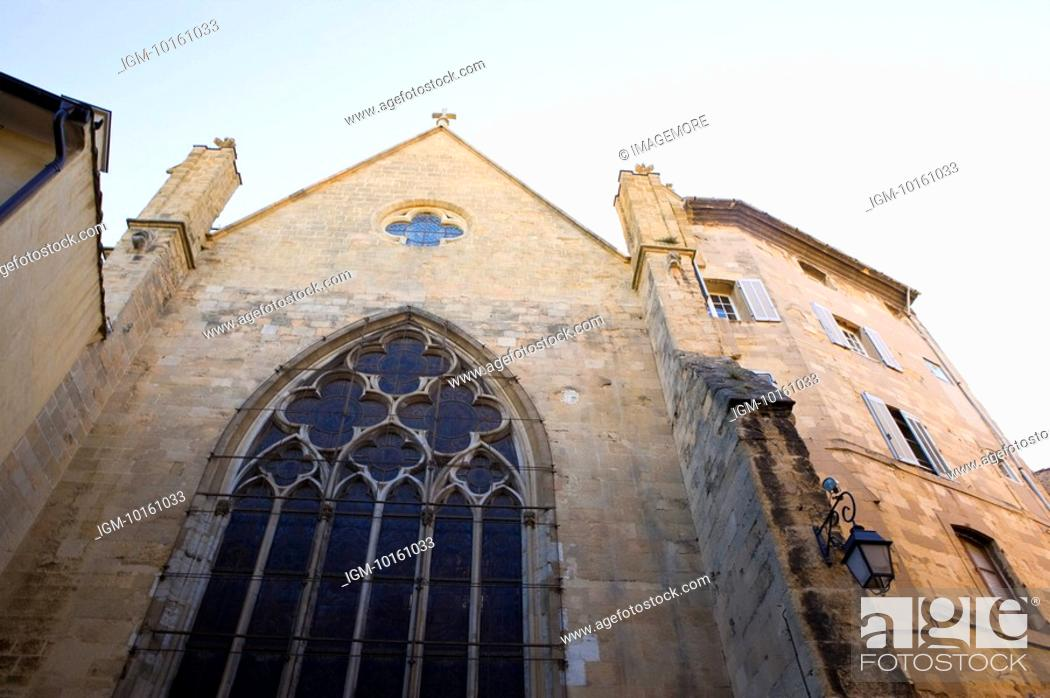Stock Photo: Church in Aix-en-Provence, Provence-Alpes-Cote d'Azur, France.